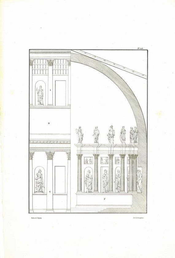 Roman Architecture Ancient Basilica Drawing at CarambasVintage