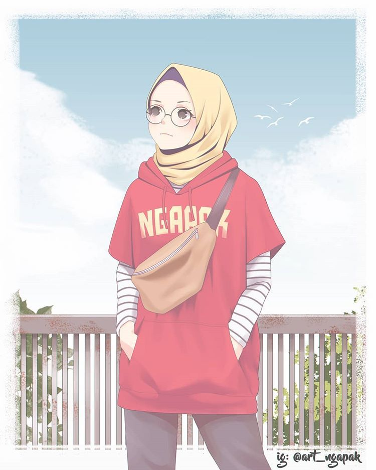 Pin Auf Hijab Drawing Cool tomboy hijab anime wallpaper