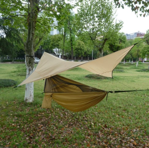 2019 Outdoor Mosquito Net Hanging Hammock Swings Simple Water Proof Camping Flying Tent Portable Ham Hammock Rain Fly Hammock Camping Hammock With Mosquito Net