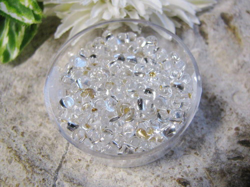17g Farfalle 3 2 X 6 5mm Farblos Silbereinzug Pracht Hobby Perlen