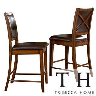 Tribecca Home Frisco Bay Burnished Oak 24 Inch Counter