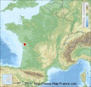 Relief map relief of SaintSauveurdAunis France NOUVELLE