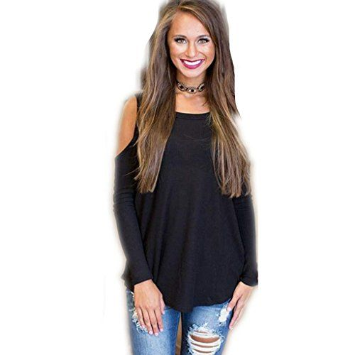 ZYQYJGF Irregular Openwork Long Sleeve Tops Bottoming Shirt Womens Club Night Party Casual Loose TShirt Black  m -- Learn more by visiting the image link.