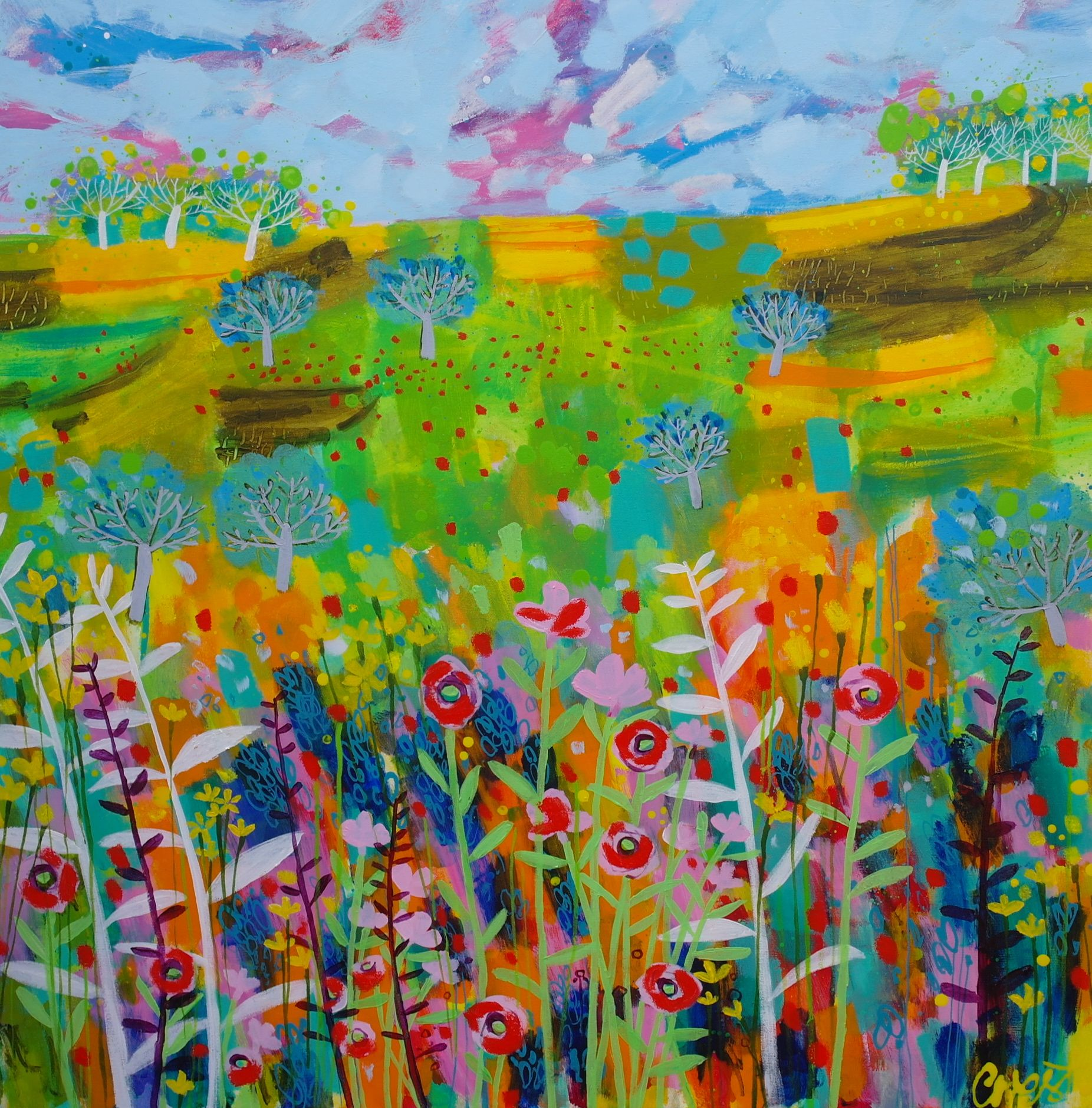 Beautiful Day by Claire West  at claire-west.com  available at Itch Gallery, Oakham