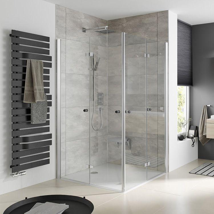 Duschkabinen_Eckeinstieg mit Drehfalttür web Dusche