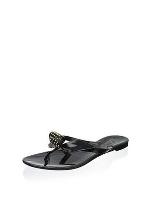 56% OFF Delman Women's Pique Jelly Sandal (Black Opaque Jelly)