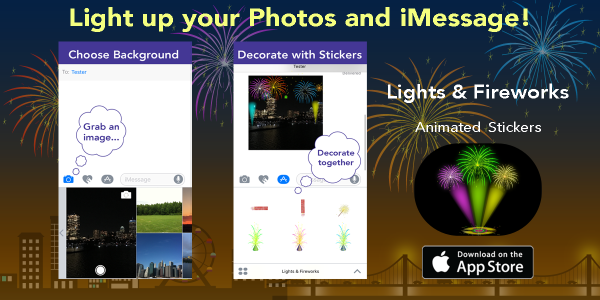 Add Lights and Fireworks effects to any photo! Imessage