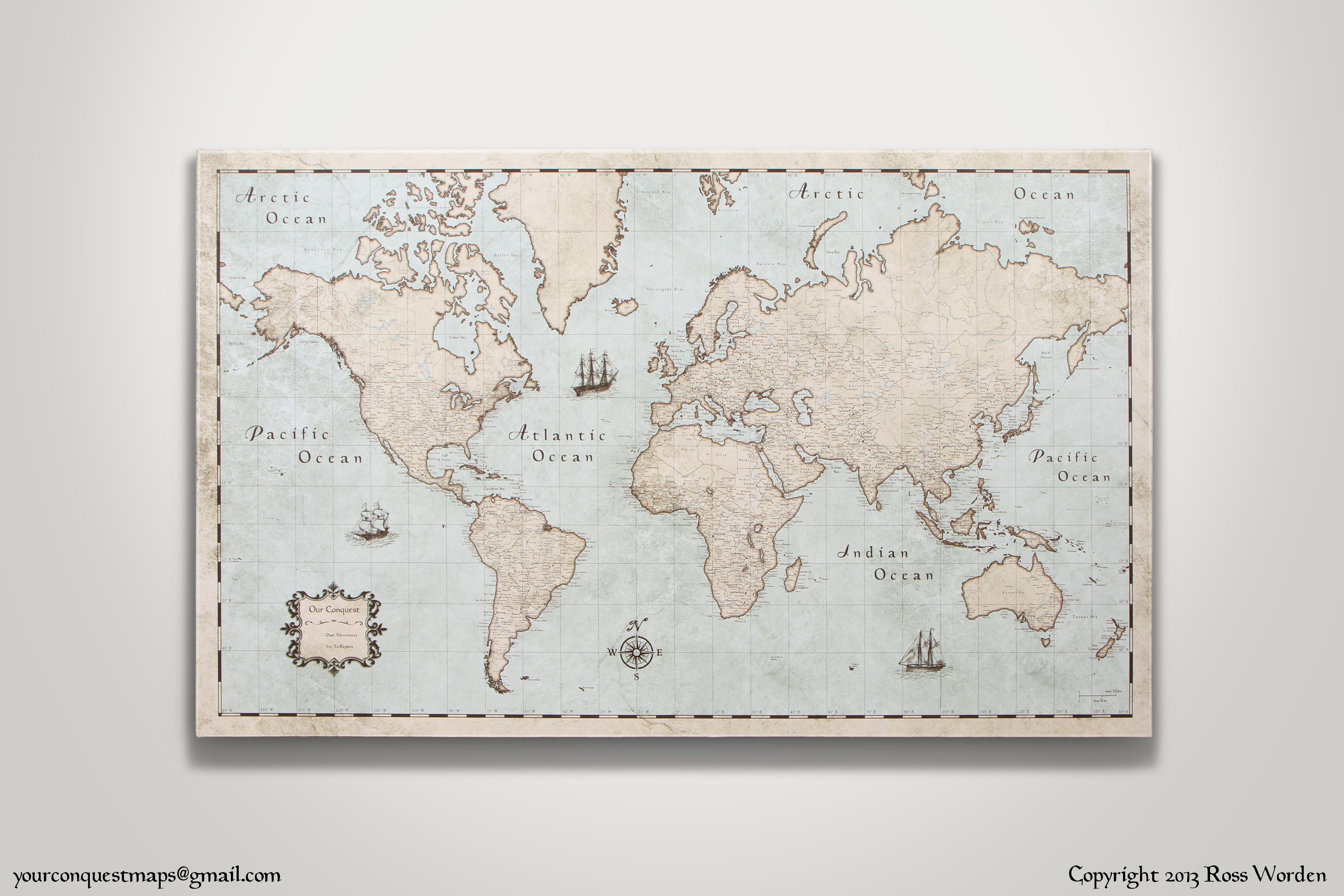 Httpsetsylisting15164032848x30 large vintage cork pin world travel map x large rustic vintage style cork pin board canvas print gumiabroncs Image collections