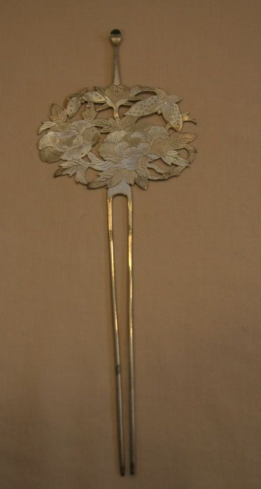 Japanese Silver Decorative Hair Stick by RAAdesign on Etsy