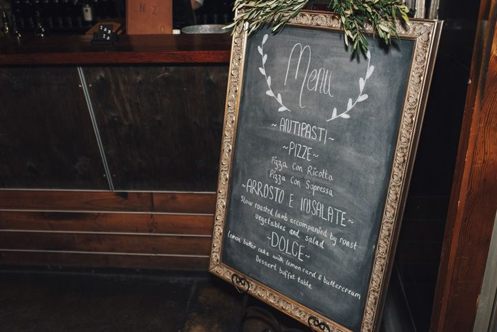 Wedding Menu Sign | itakeyou.co.uk #wedding #rustic #rusticwedding #barnwedding #vineyardwedding #realwedding #weddingphotos