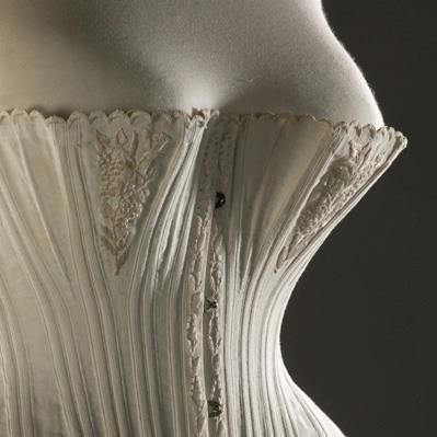 18701875 corset made of cotton silk and whalebone
