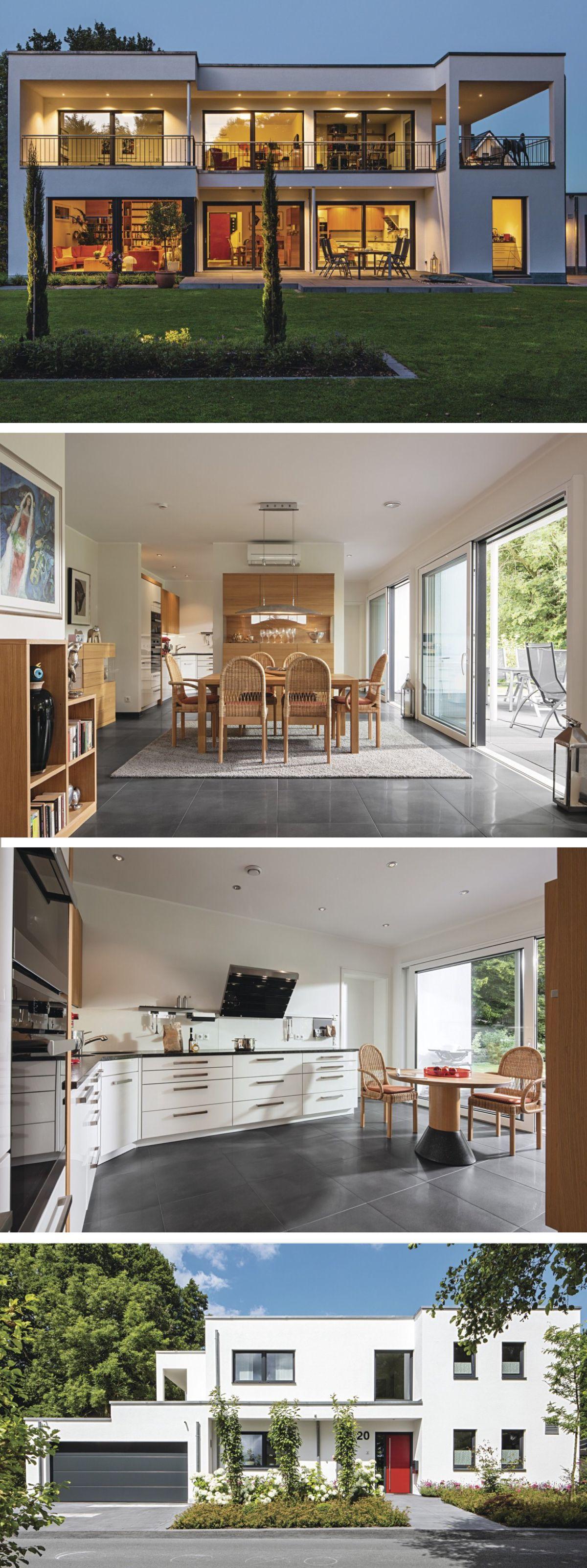 Moderne Stadtvilla im Bauhausstil - Fertighaus von WeberHaus ...