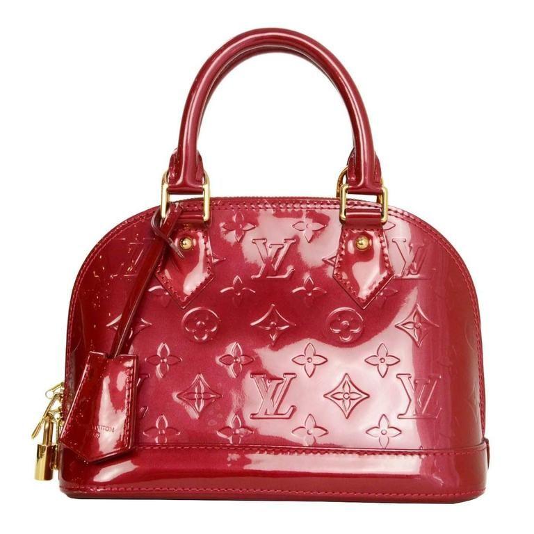 1cc30103782d Louis Vuitton Red Monogram Vernis Mini Alma BB Crossbody Bag