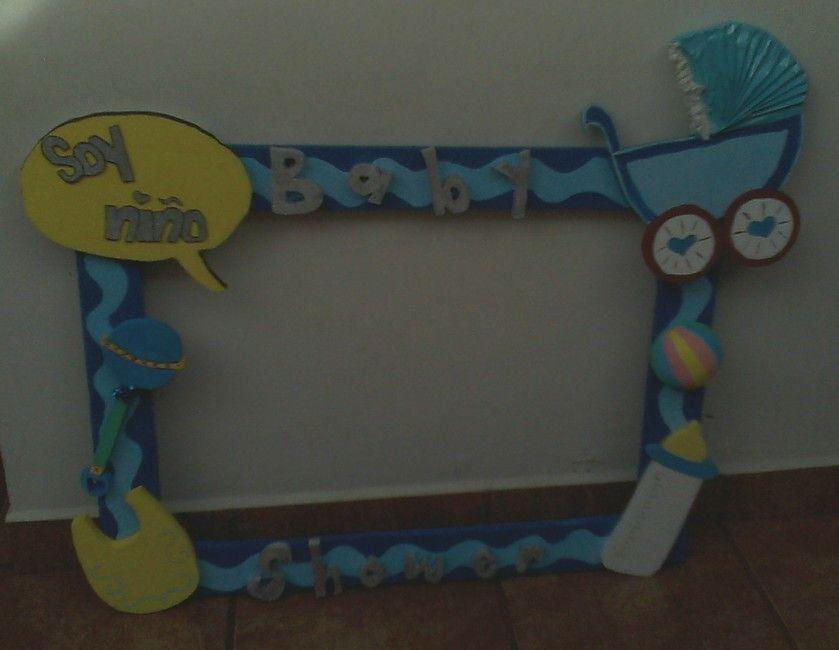 Marco para Baby shower de nio hecho por el tallercito de Claudia