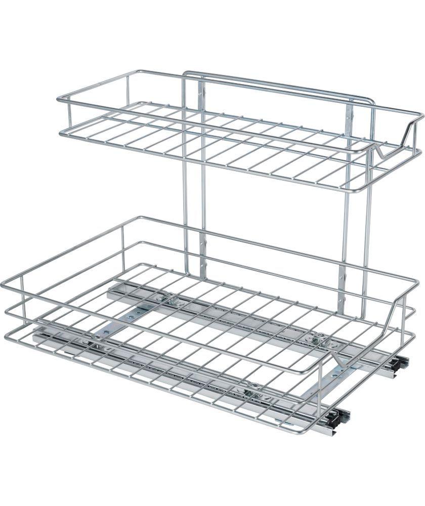 buy 2 shelf sliding kitchen storage   chrome at argos co uk   your buy 2 shelf sliding kitchen storage   chrome at argos co uk   your      rh   pinterest co uk