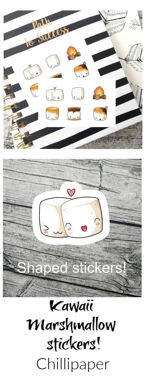Super cute marshmallow stickers      Super cute marshmallow stickers