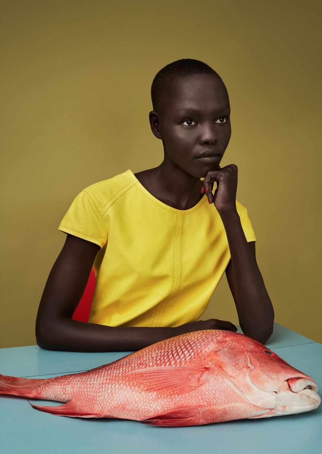 Sunrise Market  Publication: Luncheon Magazine #3 Spring 2017  Model: Grace Bol  Photographer: Solve Sundsbo  Fashion Editor: Mattias Karlsson  Hair: Chisato Yamamoto  Make Up: Polly Osmond