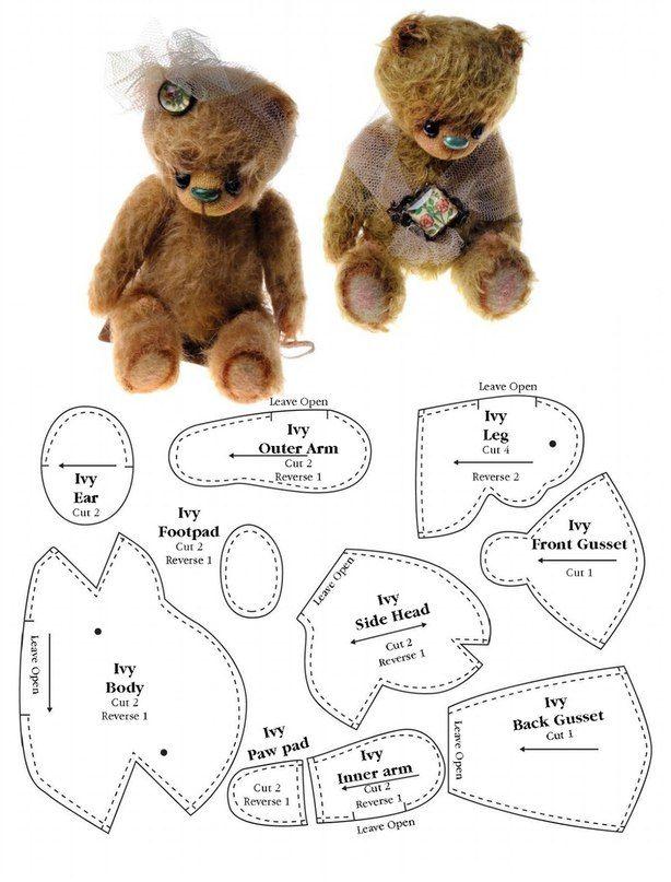 МиМиМишки (Мишки Тедди и их друзья) | Jouets | Pinterest | Schnittmuster