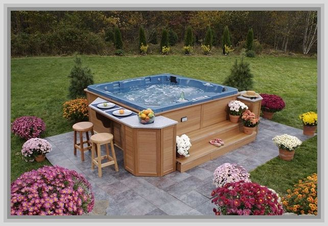 Hot Tub Design Ideas backyard hot tub designs Home Ideas For Outdoor Patio Ideas With Hot Tub