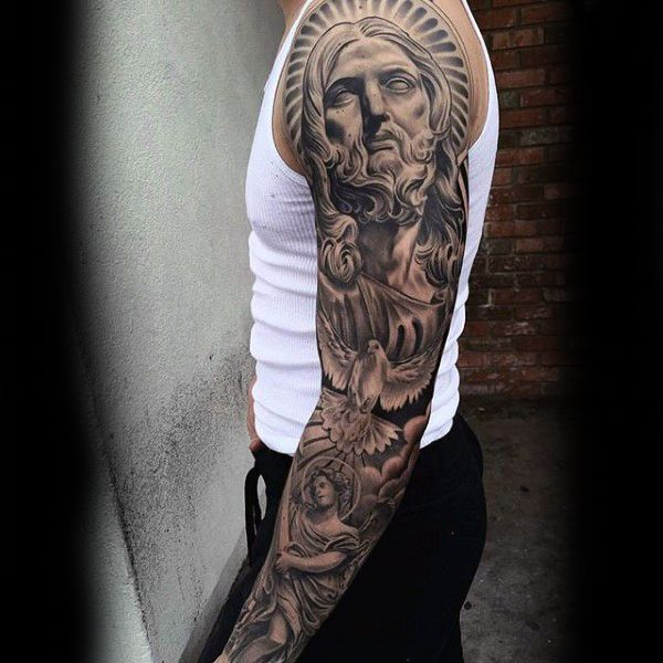 About religious tattoos for men on pinterest mens for Mens tattoos pinterest