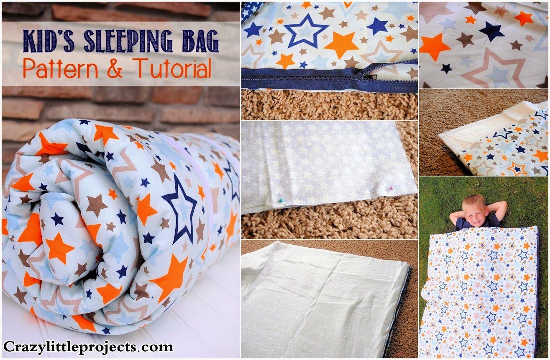 DIY Kids Sleeping Bag Tutorial