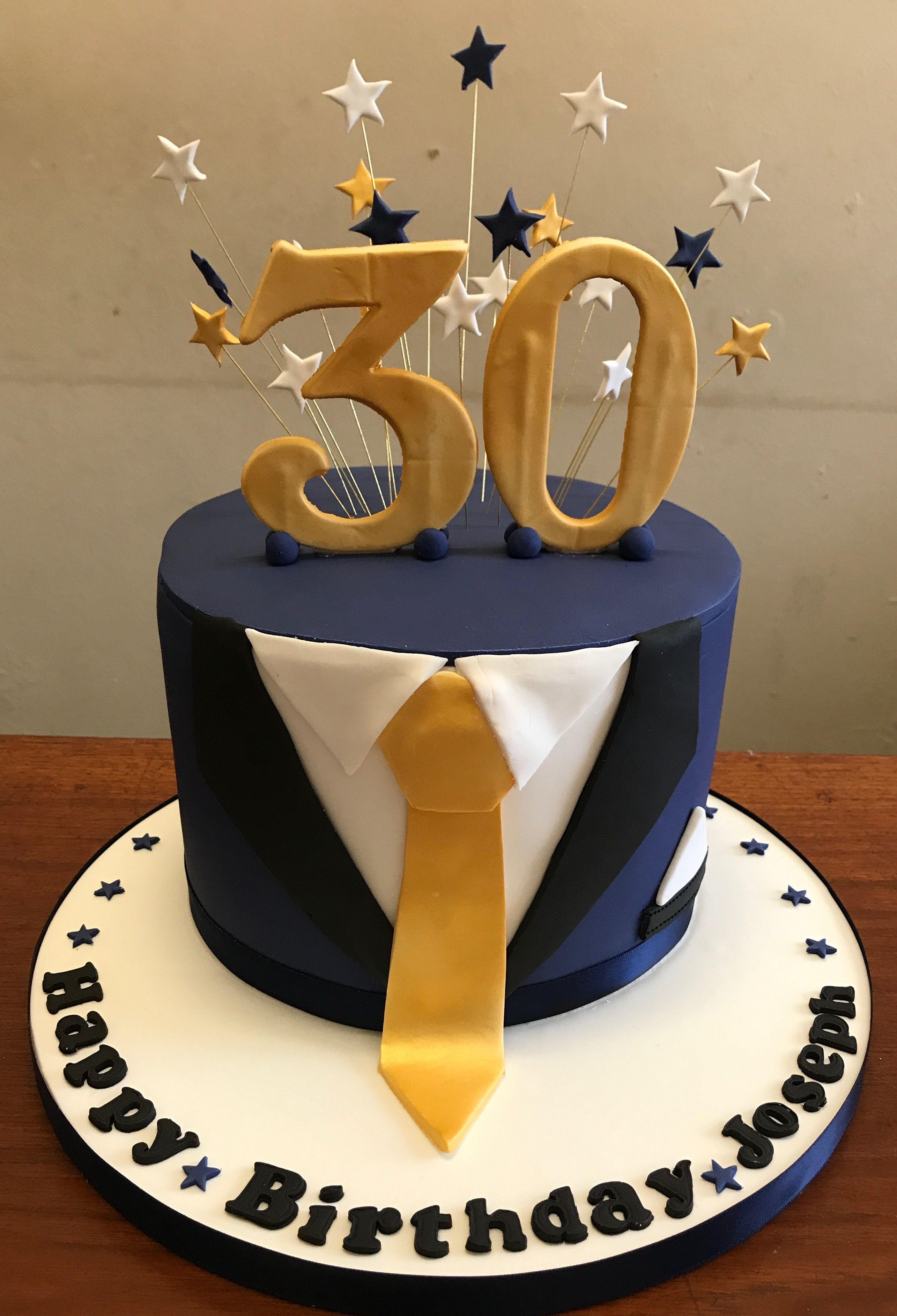 Tuxedo 30th Birthday Cake Thedanesbakery