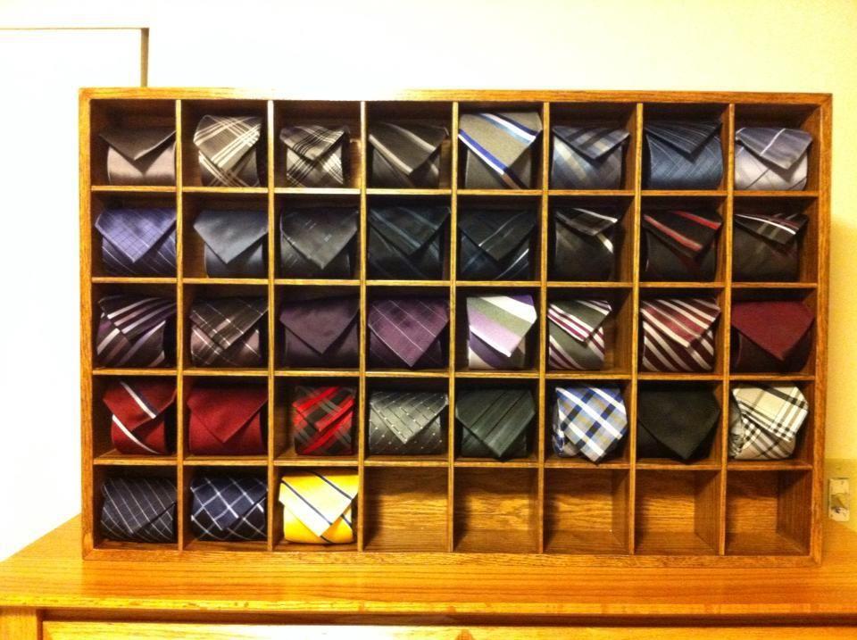 Attirant Finally Received My Tie Display! (alternative Necktie Storage)   Imgur