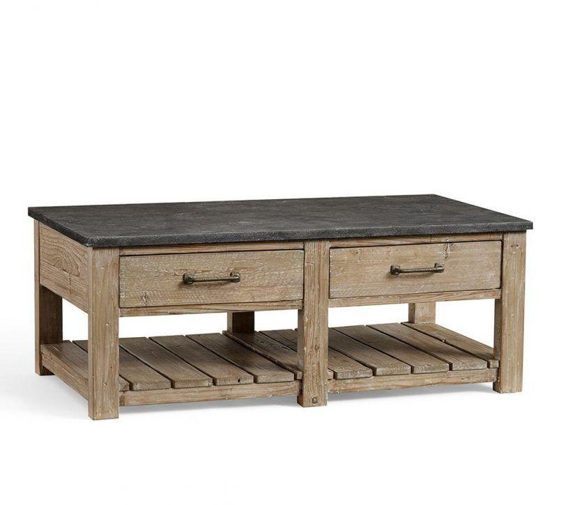 15 Pottery Barn Wood Coffee Table Inspiration Di 2020 Desain