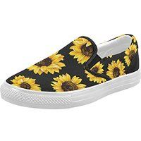 33af077c63d6 InterestPrint Sunflower Casual Slip-on Canvas Women s Fashion Sneakers Shoes