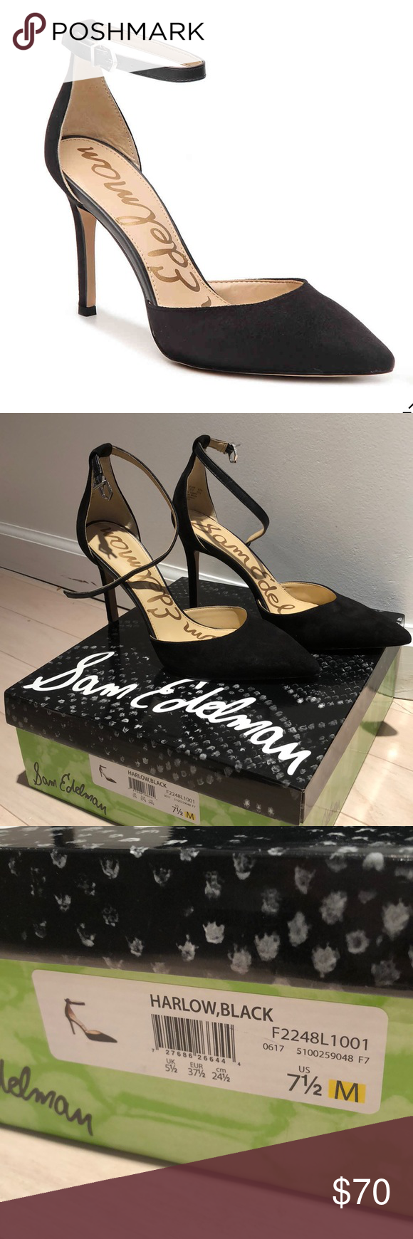 7e0c448d39b Sam Edelman Harlow Pump Adorable pair of heels with a buckle. Great  condition ... worn once for an hour. In original box. Sam Edelman Shoes  Heels