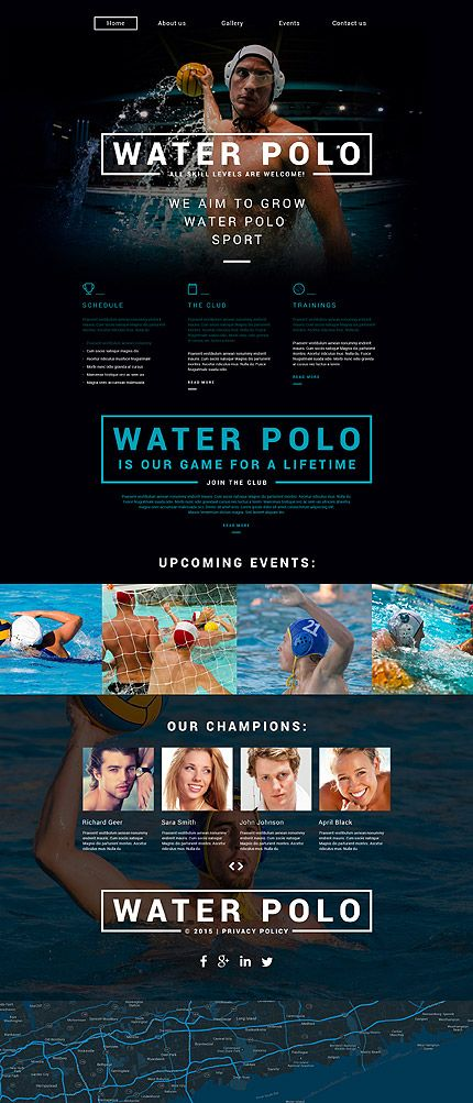 Water Polo Academy #website #template. #themes #business #responsive ...