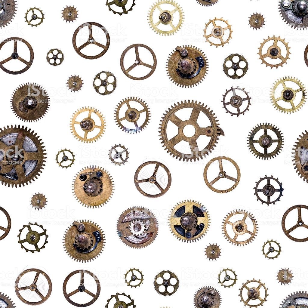 White Mixed Steampunk Cog Die-Cuts pack of 22