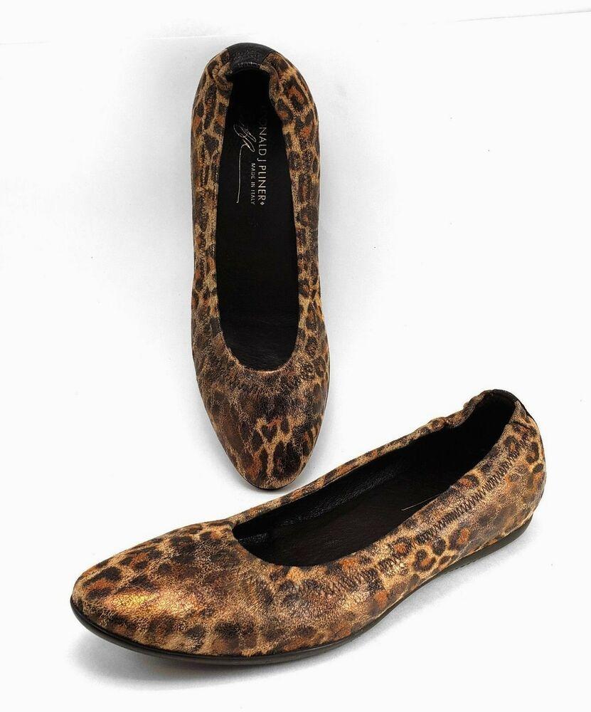 aeaa609e2d84 Donald Pliner HYWEI Leopard Ballet Flats Nubuck Leather Size 8.5 M   DonaldJPliner  BalletFlats  DressCasual