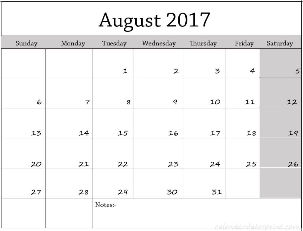 fillable calendar 2017