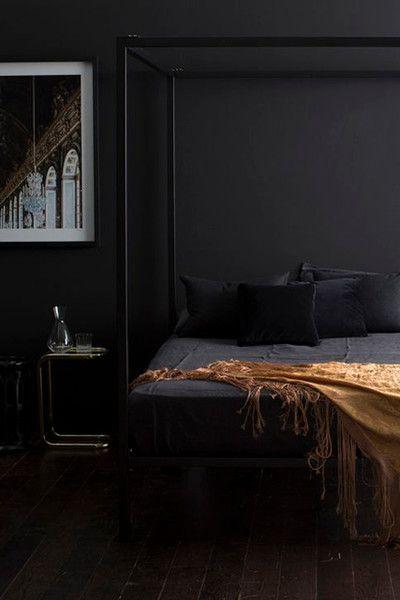 Black Not Bleak - Our Favorite Dark Living Spaces - Photos