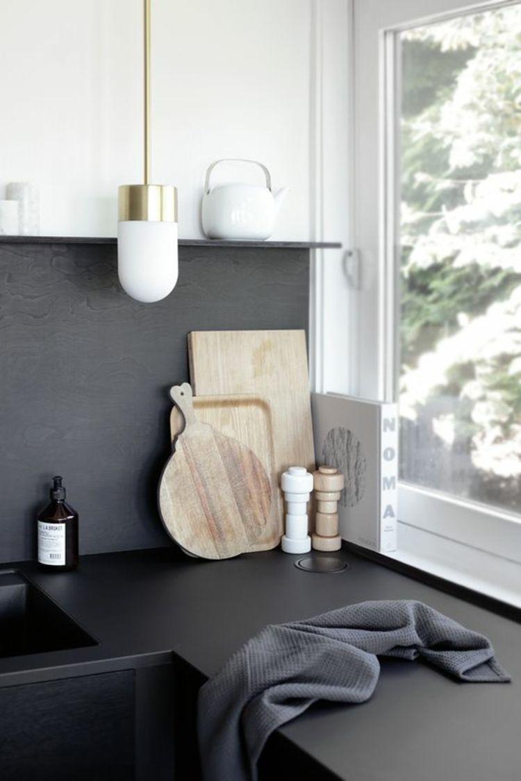 Küchenbilder küchenarbeitsplatte in schwarz schöne küchen bilder dwell