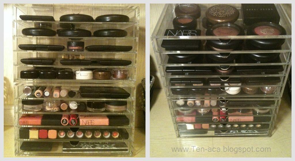 muji acrylic makeup organizer things i want pinterest