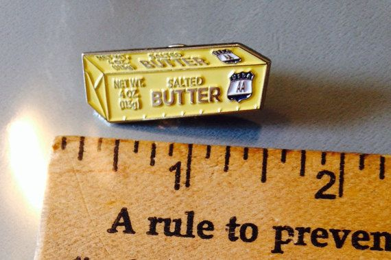 Stick Of BUTTER Pin Soft enamel - Bakers, Dairy farmers, people who love Butter this is for you!