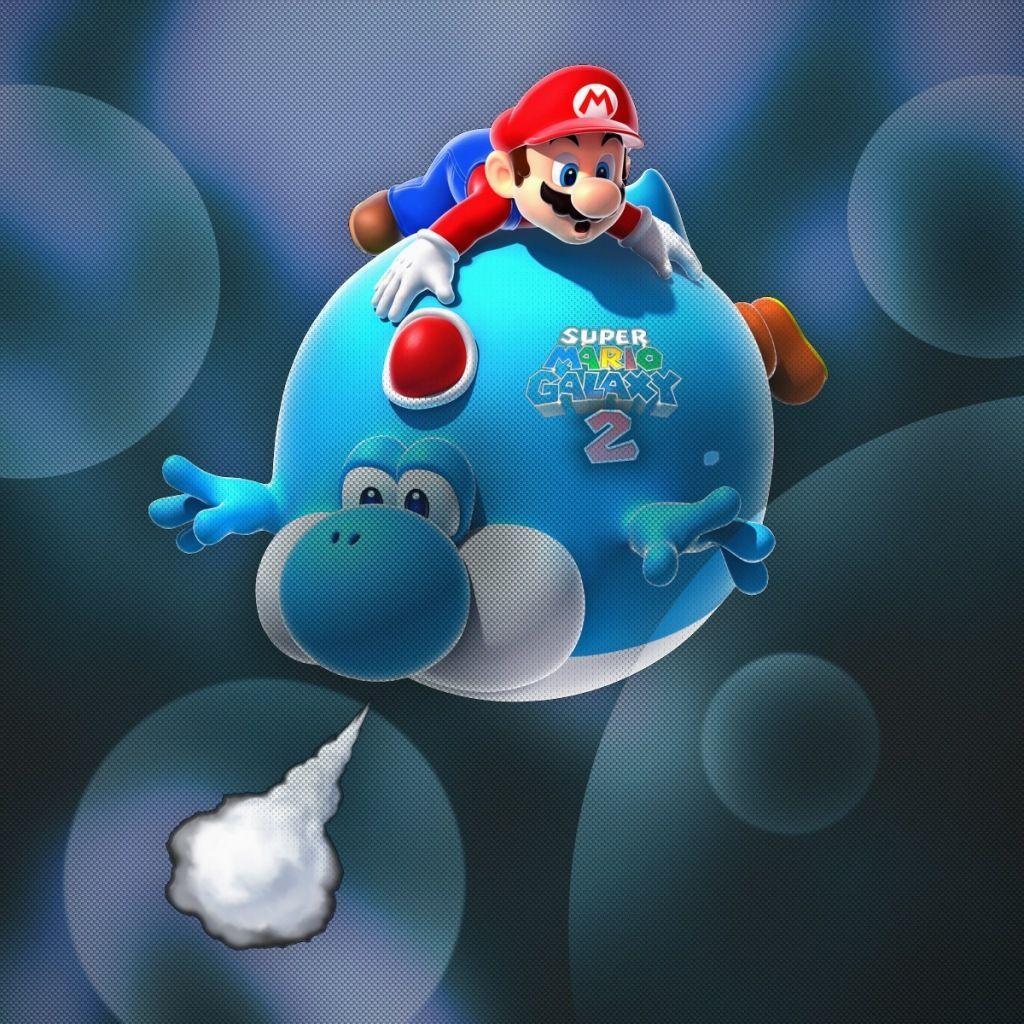 Mario Galaxy Wallpaper for iPad