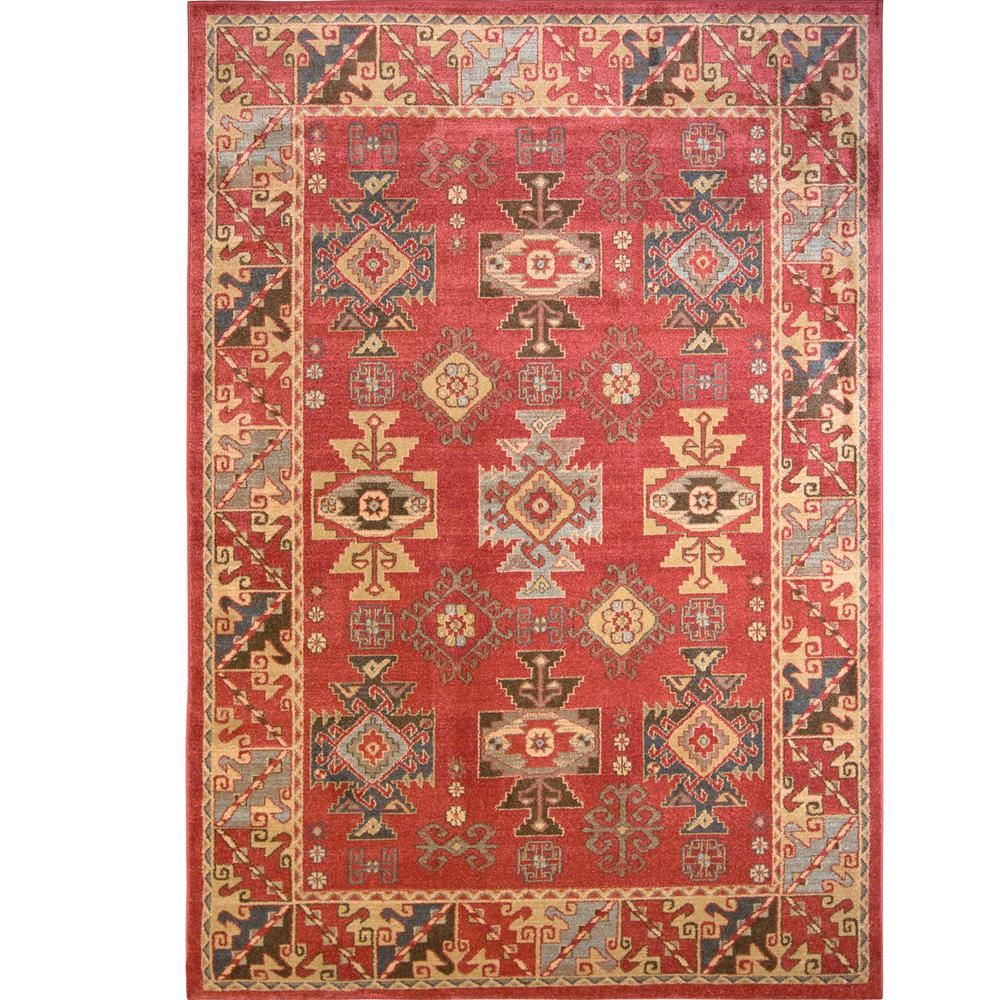 Home decorators collection classic red 5 ft 2 in x 7 ft