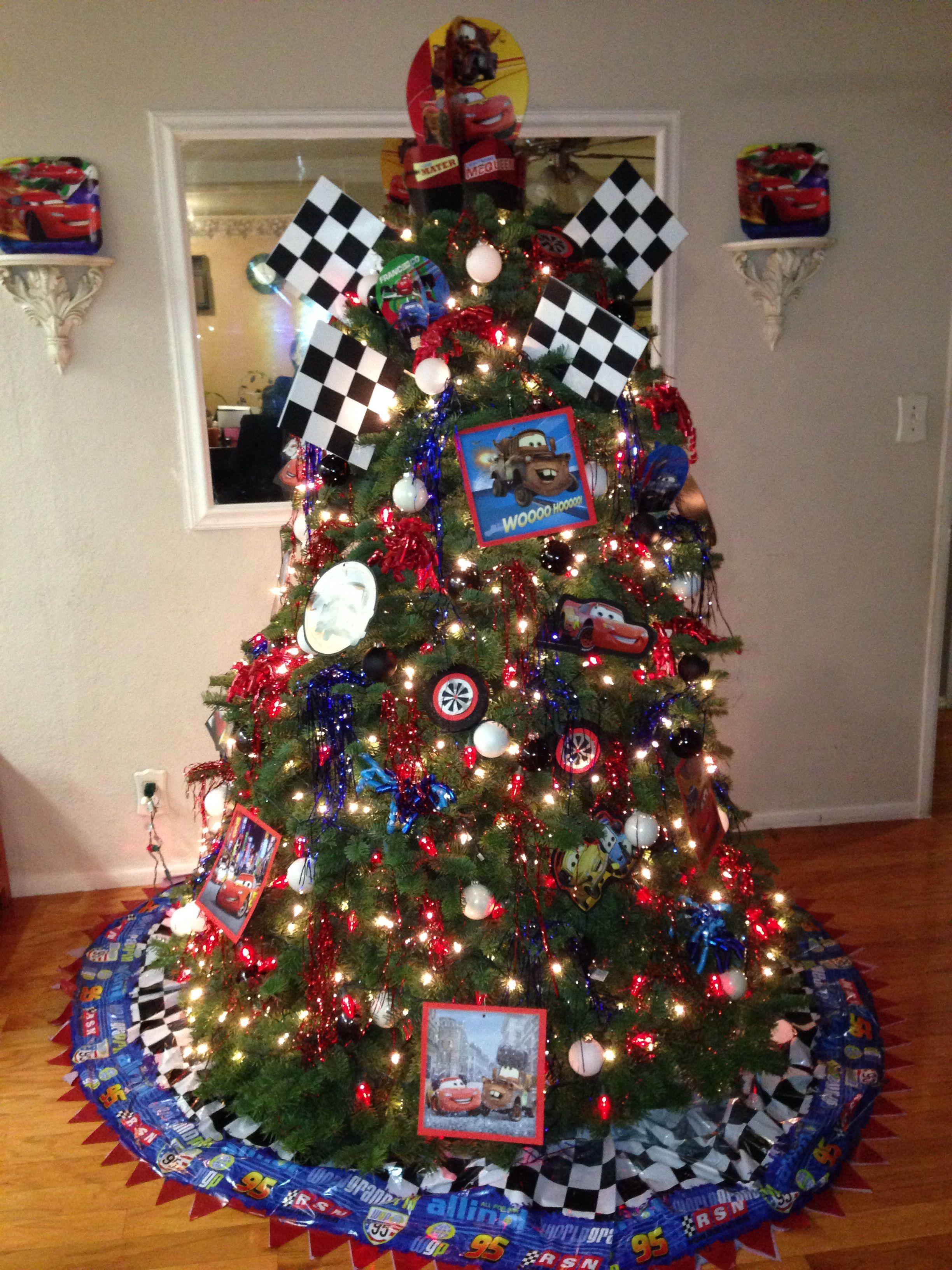 Disney tree ornaments - Disney Cars Theme Christmas Tree