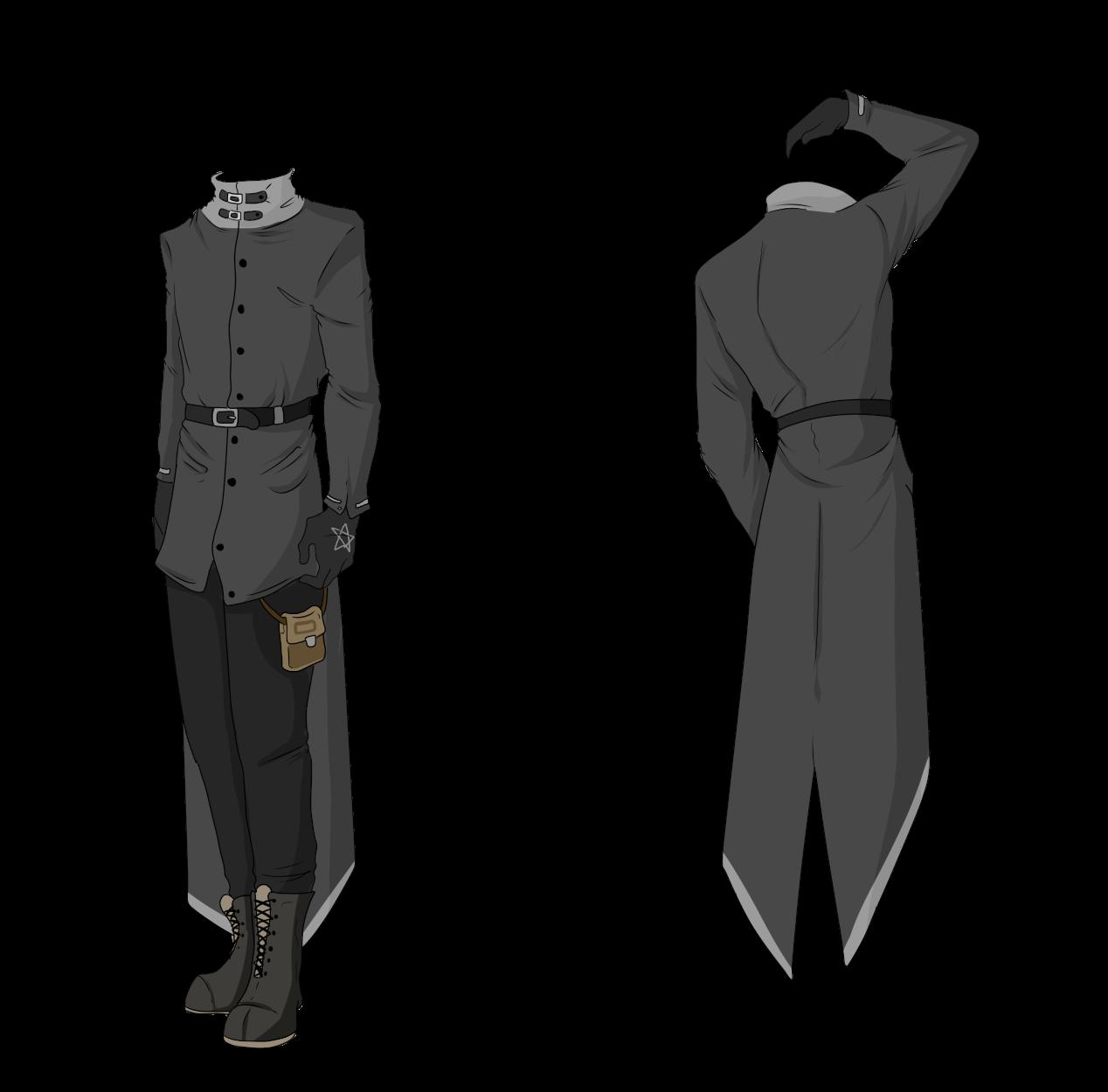 Custom Outfit Adopt Grey Longcoat by ShadowInkAdopts