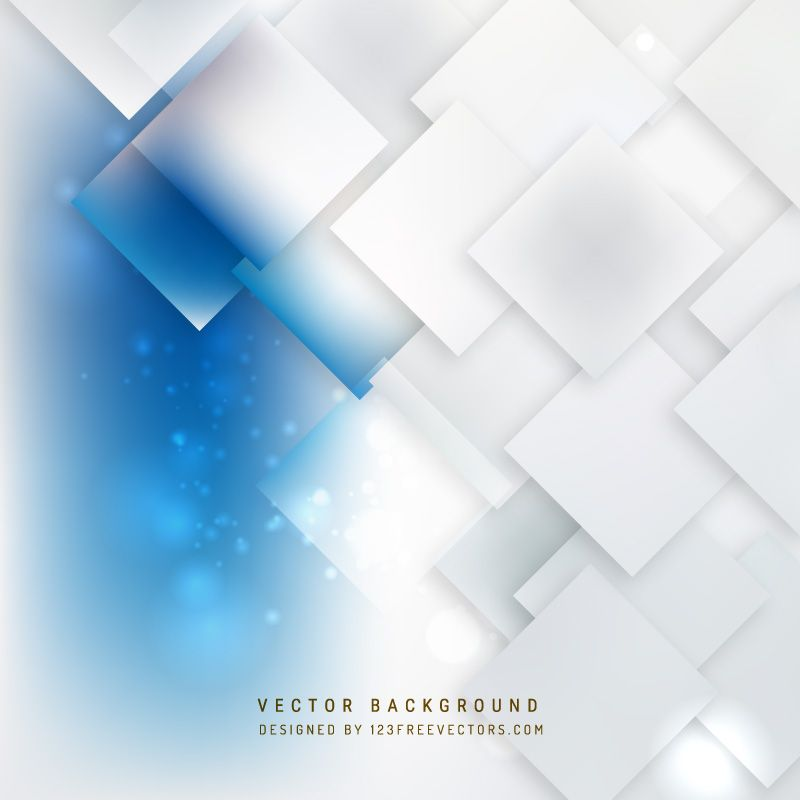 Abstract Blue White Square Background Free Vector Backgrounds