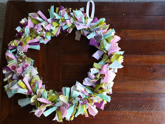 Spring/Summer Fabric Wreath  Spring  by AshCountryPrimitives, $30.00