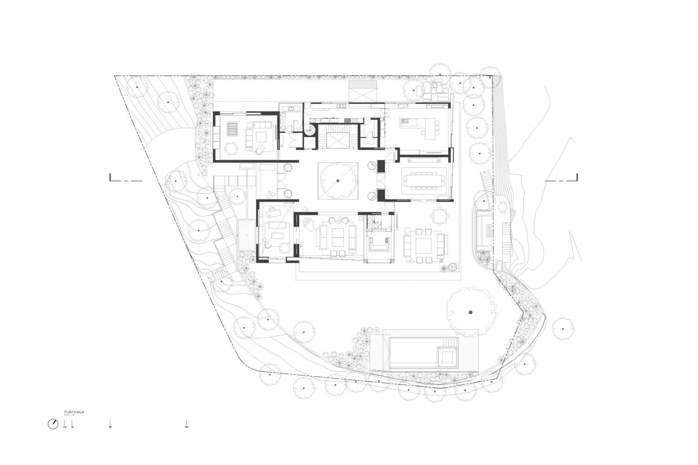 Gallery Of Lj30 House Cdm Casas De Mexico 26 Ground Floor Plan Basement Floor Plans House Layouts