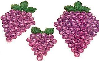 crochet grape covered bottle-cap trivet!