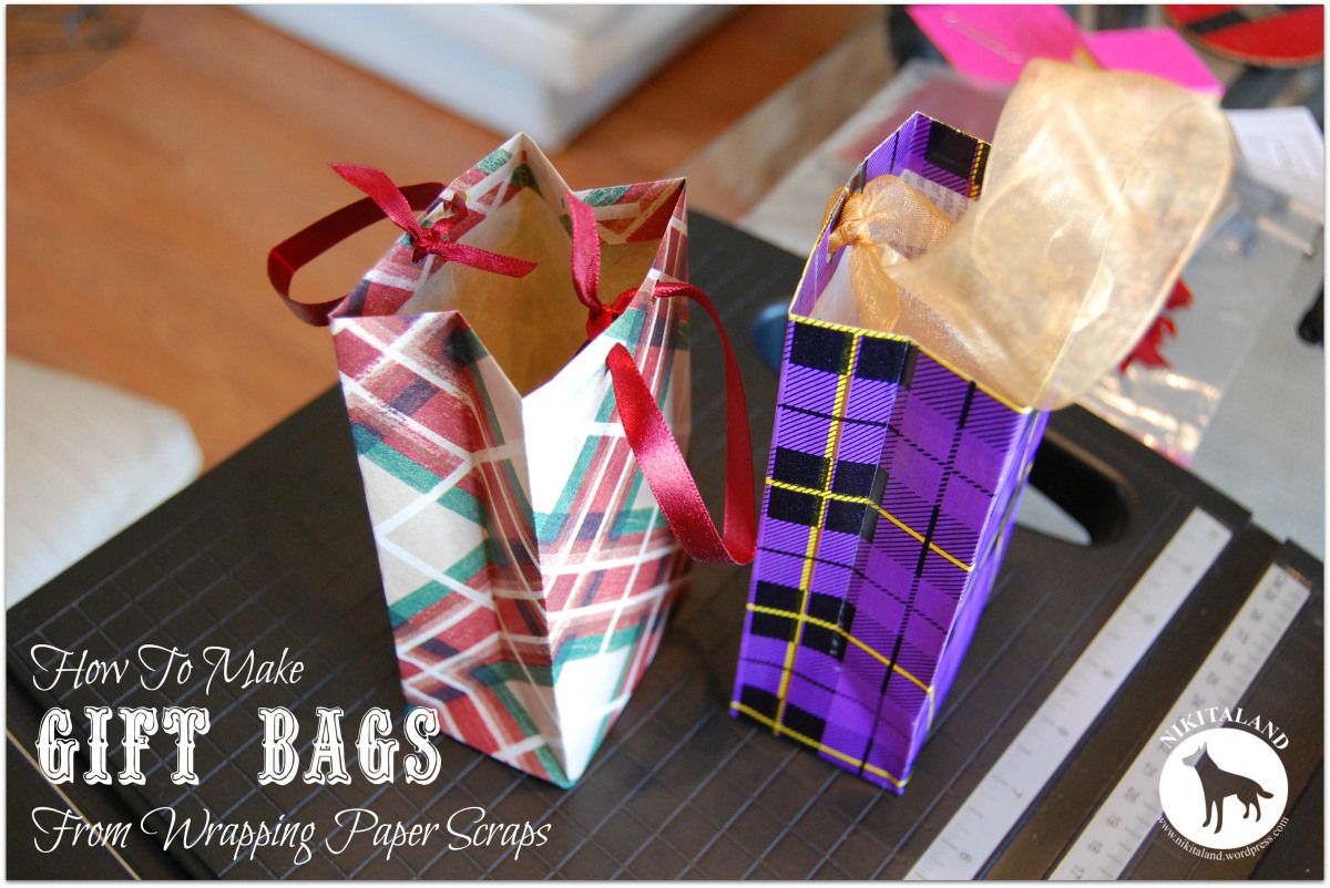 How to make a gift bag from wrapping paper scraps how to