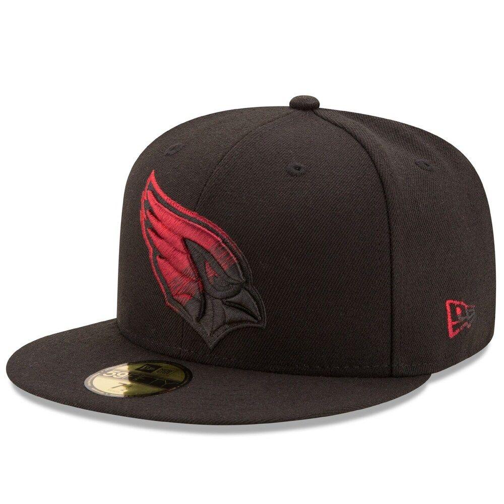 Men S New Era Black Arizona Cardinals Color Dim 59fifty Fitted Hat Bone Oculos De Sol Chapeu