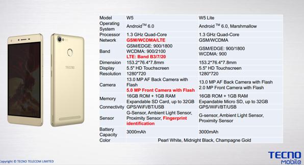 Tecno W5 vs Tecno W5 specs   Tecno Mobile Phones   4g internet