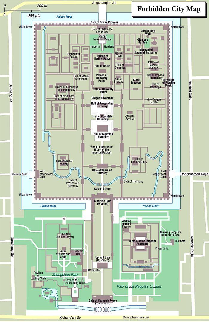 Forbidden City Map Clockwork Samurai Pinterest City maps City
